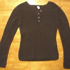 J. Crew Women's Brown See Through Sweater - Size:S